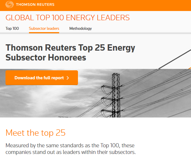 CropEnergies_Thomson Reuters TOP 25 Subsector_2017.png